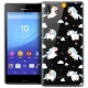 Coque Crystal Sony Xperia M4 Aqua Extra Fine Fantasia - Licorne In the Sky