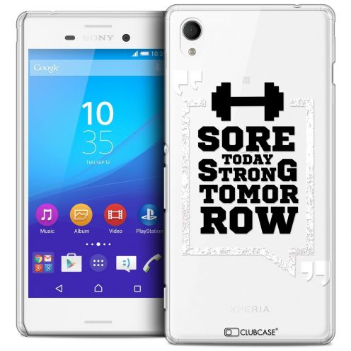 Coque Crystal Sony Xperia M4 Aqua Extra Fine Quote - Strong Tomorrow