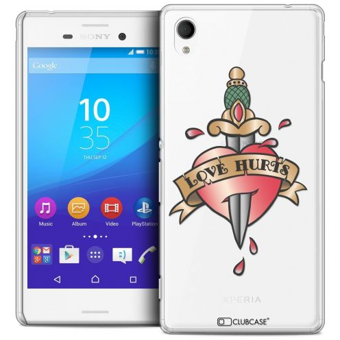 Coque Crystal Sony Xperia M4 Aqua Extra Fine Tatoo Lover - Love Hurts