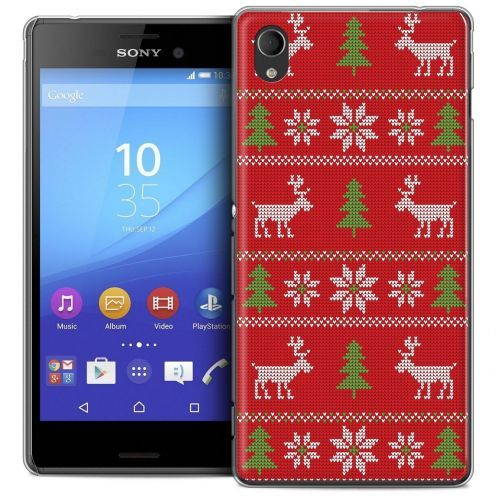 Coque Crystal Sony Xperia M4 Aqua Extra Fine Noël 2016 - Couture Rouge