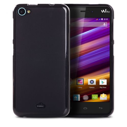 Frozen Ice Extra Slim soft Black opaque case for Wiko Jimmy