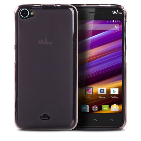 Frozen Ice Extra Slim soft Black case for Wiko Jimmy