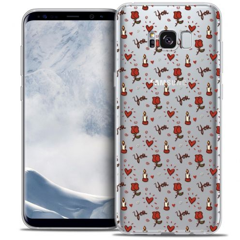 Extra Slim Crystal Gel Samsung Galaxy S8 (G950) Case Love Bougies et Roses