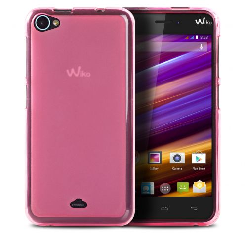 Frozen Ice Extra Slim soft Pink case for Wiko Jimmy