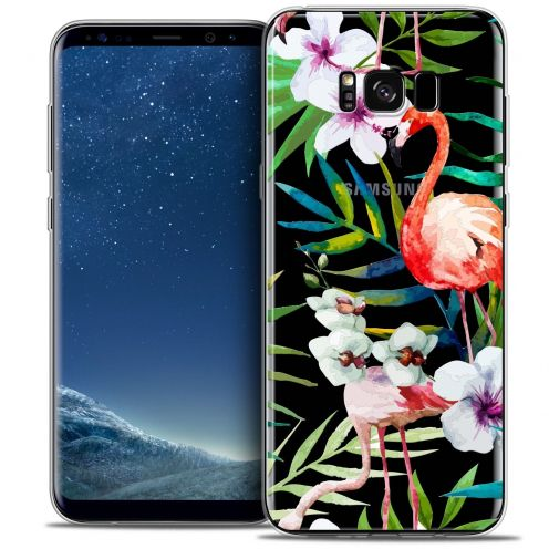 Coque Crystal Gel Samsung Galaxy S8+/ Plus (G955) Extra Fine Watercolor - Tropical Flamingo