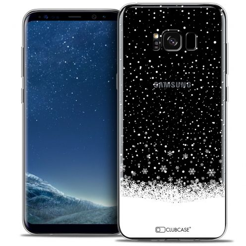 Coque Crystal Gel Samsung Galaxy S8+/ Plus (G955) Extra Fine Noël 2016 - Flocons de Neige