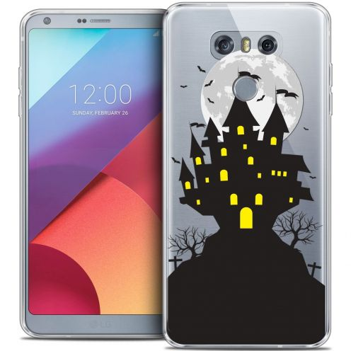 Extra Slim Crystal Gel LG G6 Case Halloween Castle Scream