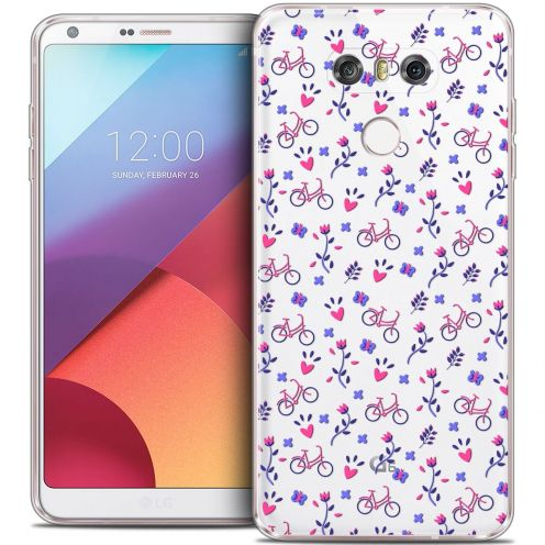 Coque Crystal Gel LG G6 Extra Fine Love - Bicycle