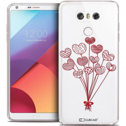 Extra Slim Crystal Gel LG G6 Case Love Ballons d'amour