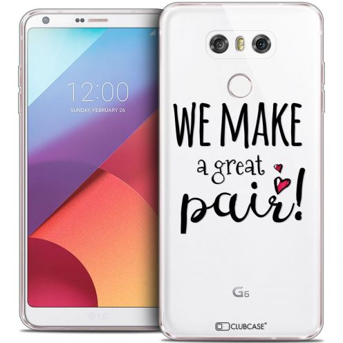 Coque Crystal Gel LG G6 Extra Fine Love - We Make Great Pair