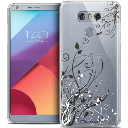 Coque Crystal Gel LG G6 Extra Fine Love - Hearts Flowers