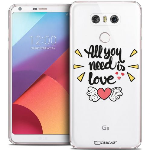 Extra Slim Crystal Gel LG G6 Case Love All U Need Is