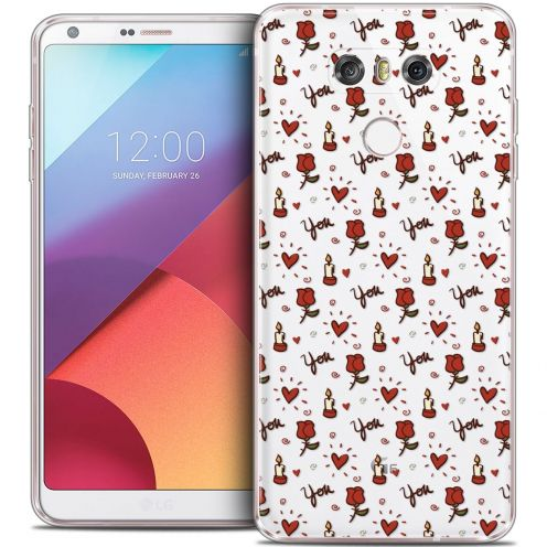 Coque Crystal Gel LG G6 Extra Fine Love - Bougies et Roses