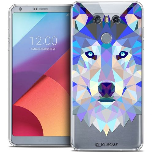 Coque Crystal Gel LG G6 Extra Fine Polygon Animals - Loup