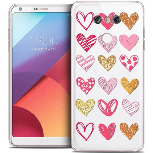 Coque Crystal Gel LG G6 Extra Fine Sweetie - Doodling Hearts