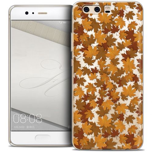 Coque Crystal Gel Huawei P10 Extra Fine Autumn 16 - Feuilles
