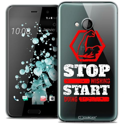 Extra Slim Crystal Gel HTC U Play Case Quote Start Doing