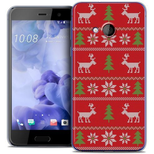 Coque Crystal Gel HTC U Play Extra Fine Noël 2016 - Couture Rouge