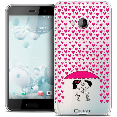 Coque Crystal Gel HTC U Play Extra Fine Love - Pluie d'Amour