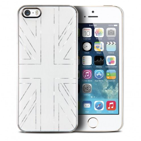 Qdos® Smoothies Metallics Case UK White for iPhone 5/5S