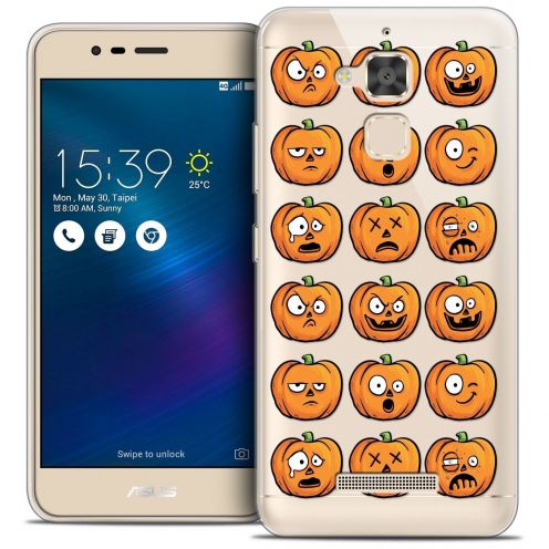 "Coque Crystal Gel Asus Zenfone 3 Max ZC520TL (5.2"") Extra Fine Halloween - Cartoon Citrouille"