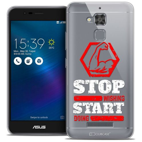"Coque Crystal Gel Asus Zenfone 3 Max ZC520TL (5.2"") Extra Fine Quote - Start Doing"