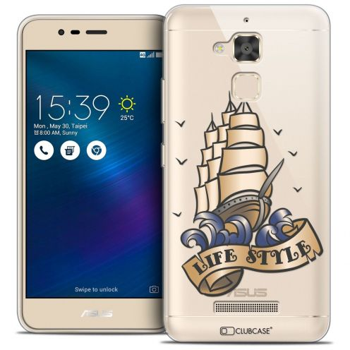 "Coque Crystal Gel Asus Zenfone 3 Max ZC520TL (5.2"") Extra Fine Tatoo Lover - Life Style"
