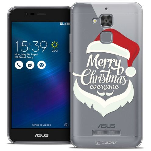 "Extra Slim Crystal Gel Asus Zenfone 3 Max ZC520TL (5.2"") Case Noël 2016 Merry Everyone"