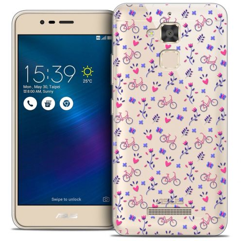 "Coque Crystal Gel Asus Zenfone 3 Max ZC520TL (5.2"") Extra Fine Love - Bicycle"