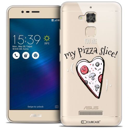 "Extra Slim Crystal Gel Asus Zenfone 3 Max ZC520TL (5.2"") Case Love My Pizza Slice"