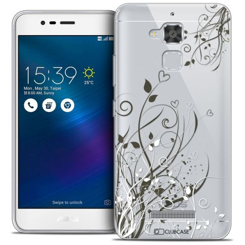 "Coque Crystal Gel Asus Zenfone 3 Max ZC520TL (5.2"") Extra Fine Love - Hearts Flowers"