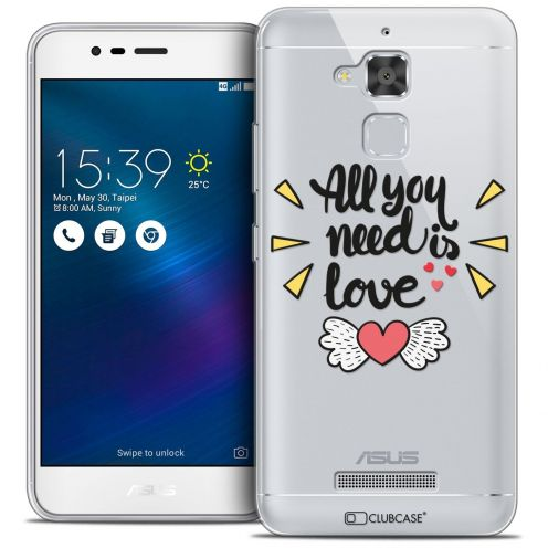 "Extra Slim Crystal Gel Asus Zenfone 3 Max ZC520TL (5.2"") Case Love All U Need Is"