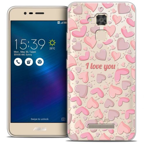 "Extra Slim Crystal Gel Asus Zenfone 3 Max ZC520TL (5.2"") Case Love I Love You"
