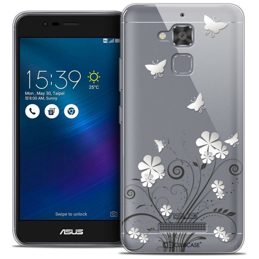 """Coque Crystal Gel Asus Zenfone 3 Max ZC520TL (5.2"""") Extra Fine Summer - Papillons"""