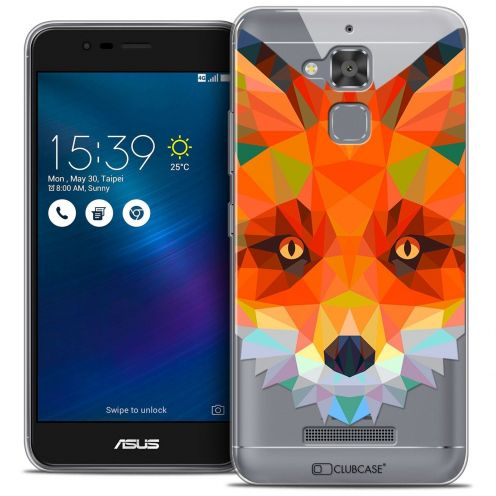 "Coque Crystal Gel Asus Zenfone 3 Max ZC520TL (5.2"") Extra Fine Polygon Animals - Renard"