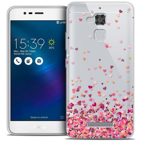 "Coque Crystal Gel Asus Zenfone 3 Max ZC520TL (5.2"") Extra Fine Sweetie - Heart Flakes"