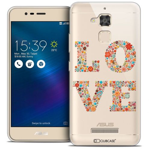 "Coque Crystal Gel Asus Zenfone 3 Max ZC520TL (5.2"") Extra Fine Summer - Love Flowers"