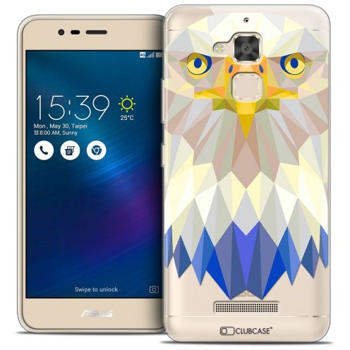 "Coque Crystal Gel Asus Zenfone 3 Max ZC520TL (5.2"") Extra Fine Polygon Animals - Aigle"