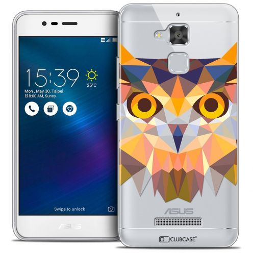 "Coque Crystal Gel Asus Zenfone 3 Max ZC520TL (5.2"") Extra Fine Polygon Animals - Hibou"